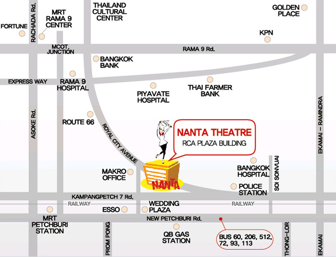 map Nanta Theater Bangkok